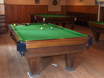 Pool or Billiard Tables Stock Images