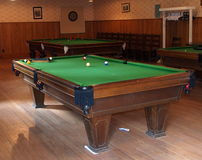 Pool or Billiard Tables Stock Photography