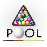 Pool billiards background. Vector illustration Royalty Free Stock Photo