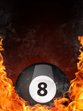 Pool Billiards Ball. In Fire. Computer Graphics Royalty Free Stock Images