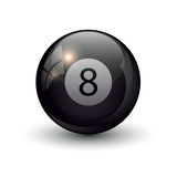 Pool billiards eight ball Stock Photography