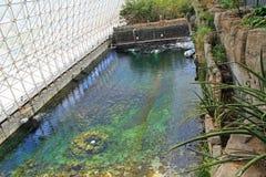 Pool binnen Biosfeer 2 in Tucson Arizona royalty-vrije stock fotografie