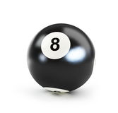 Pool black ball number eight Stock Photos