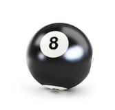 Pool black ball number eight Stock Photos