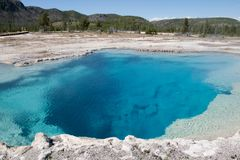 Pool in Black Sand Basin. In Yellowstone National Park Royalty Free Stock Image