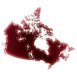 A pool of blood (or wine) that formed the shape of Canada. (seri Royalty Free Stock Image