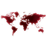 Pool of blood (or wine) that formed the shape of the world.( Stock Images