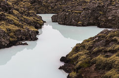 Pool of Blue Lagoon Iceland Stock Image