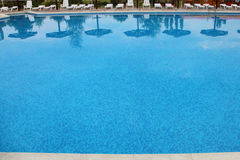 Pool with blue water Royalty Free Stock Image