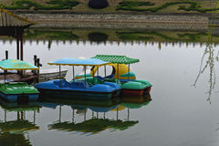 Pool and boat. This is a pool in the south of china Stock Photography