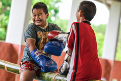 Pool boxing kids. Pool boxing kid at school Royalty Free Stock Image