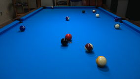 Pool break stock footage
