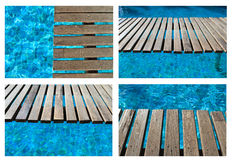 Pool bridge collection Stock Image