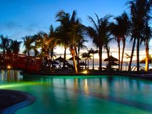 Free Pool By Sunset 2 Stock Photo - 2183250