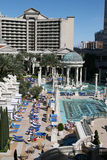 Pool at Caesar's Las Vegas. Pool area photographed at Caesar's Palace in Las Vegas Royalty Free Stock Images