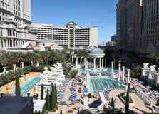 Pool at Caesar's Las Vegas. Pool area photographed at Caesar's Palace in Las Vegas Stock Photo