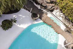 Pool in Cesar Manrique`s home in Taro de Tahiche in Lanzarote stock photo