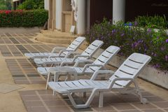 Pool chair Stock Image