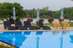 Pool chair Stock Photo