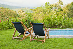 Pool Chairs Royalty Free Stock Photography