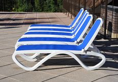 Pool chairs Stock Image