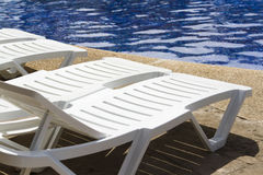 Pool chairs Royalty Free Stock Image