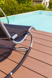Pool chaise lounge Royalty Free Stock Photography