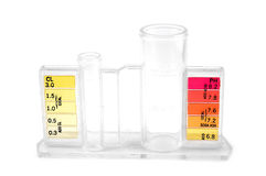 Pool chemical testing kit Stock Photos