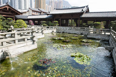 Pool in Chinese Temple. In Hongkong Royalty Free Stock Image
