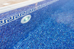 Pool with classical ceramic filled with water. Stock Photos