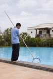 Pool cleaner Stock Image