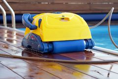 Automatic pool cleaners. Stock Photo