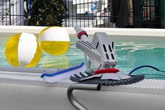 Pool cleaning equipment Stock Image
