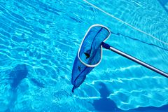 Pool cleaning Royalty Free Stock Photos