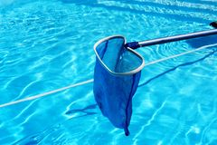 Pool cleaning Royalty Free Stock Image
