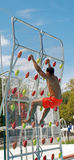 Pool Climbing Wall Stock Image