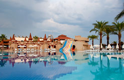 Pool on cloudy day, Turkey Stock Image
