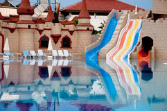 Pool on cloudy day, Turkey Stock Images