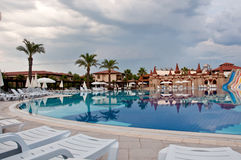 Pool on cloudy day, Turkey Royalty Free Stock Photos