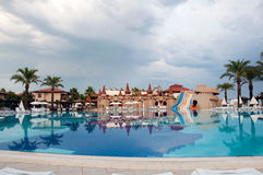 Pool on cloudy day, Turkey Royalty Free Stock Photography