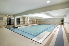 Pool in condo Stock Image