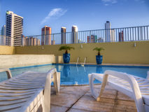 Pool in condominium Royalty Free Stock Photos