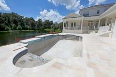 Pool Construction Stock Image