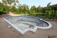 Pool Construction Stock Image
