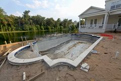 Pool Construction Royalty Free Stock Photography