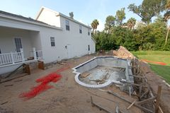 Pool Construction Stock Images