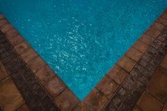 Pool Corner Tiles Water Stock Photography