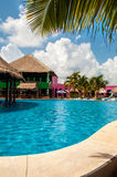 Pool in costa maya Stock Images