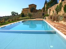 Pool in country house Stock Photography