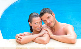 Pool couple Royalty Free Stock Photography